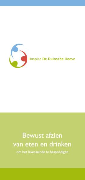 Hospice De Duinsche Hoeve_Folder Bewust afzien van eten en drinken