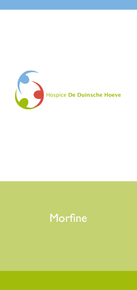 Hospice De Duinsche Hoeve_Folder Morfine